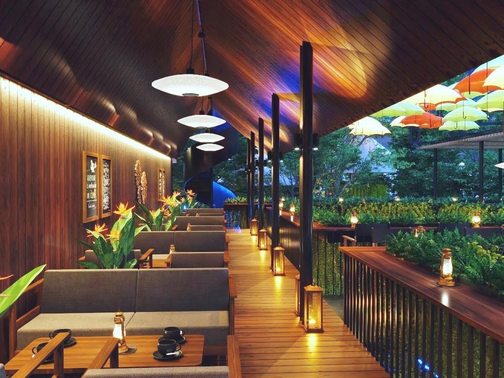 Không gian huyền ảo của nhà hàng trực thuộc khách sạn Hiệp Yến Tuy Hòa