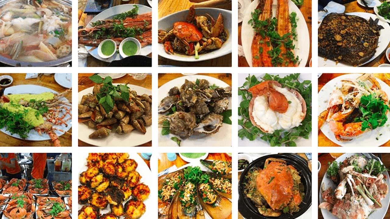 Ăn đa dạng hải sản đầm ô loan