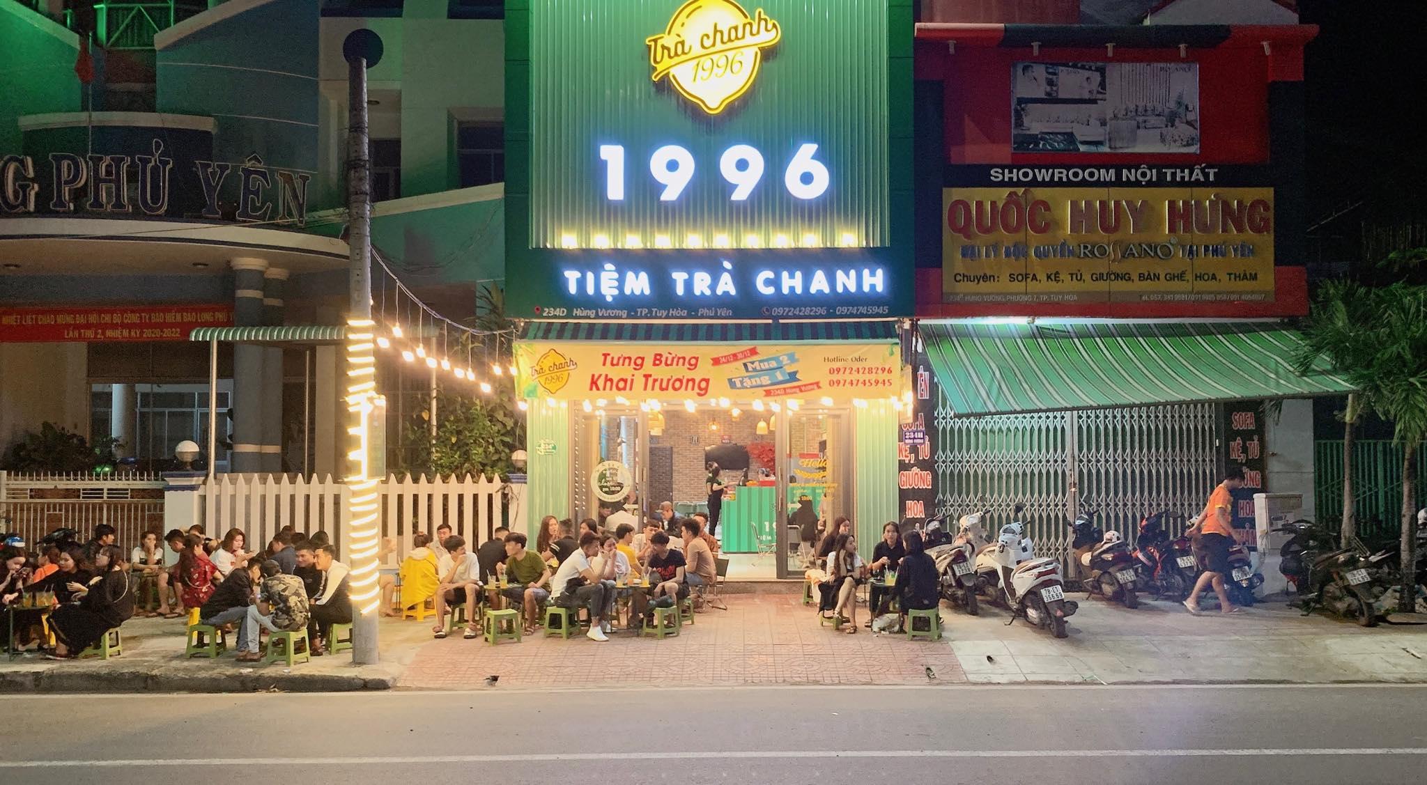 Trà chanh 1996 - Một trong những quán trà chanh tại Tuy Hòa ấn tượng