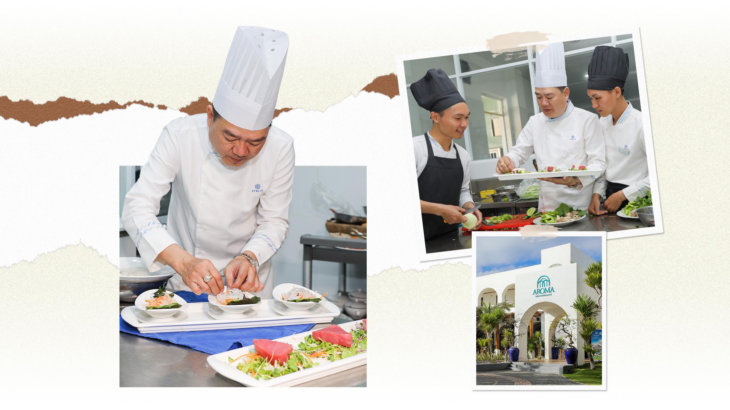 Vua đầu bếp Thái Tôn là người cầm trịch các món ăn ngon tại nhà hàng Aroma Phú Yên