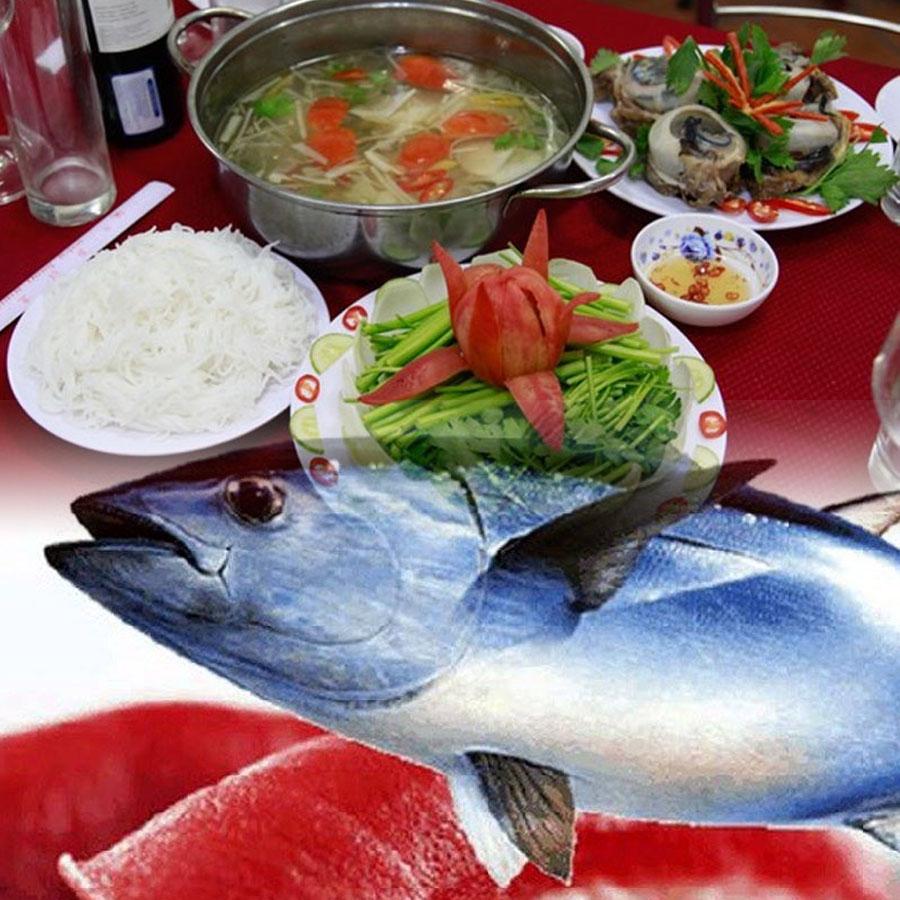 Mắt cá ngừ đại dương nấu lẩu