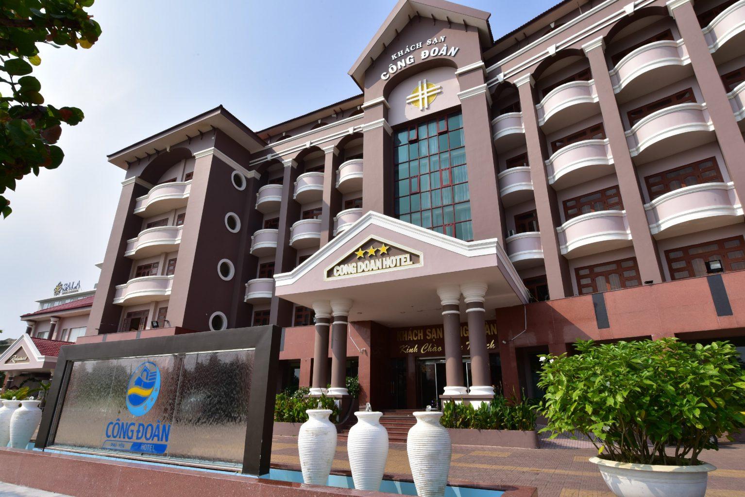 Mặt tiền khách sạn Công Đoàn Phú Yên